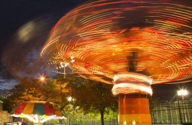 Carnival Ride at Night Light Motion