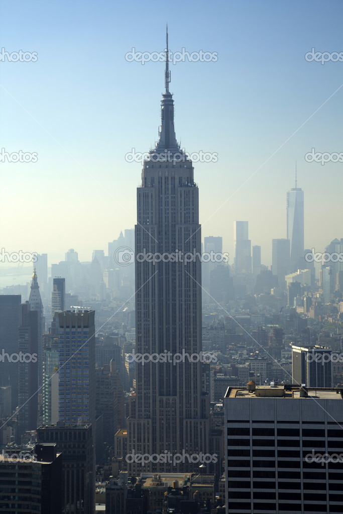 empire state building in new york city usa. Black Bedroom Furniture Sets. Home Design Ideas