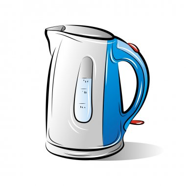 Drawing of the blue teapot kettle