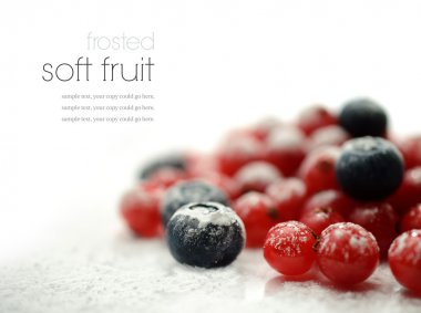 Frosted soft fruits