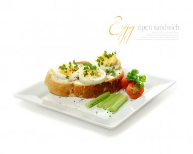 Egg and Cress Open Sandwich