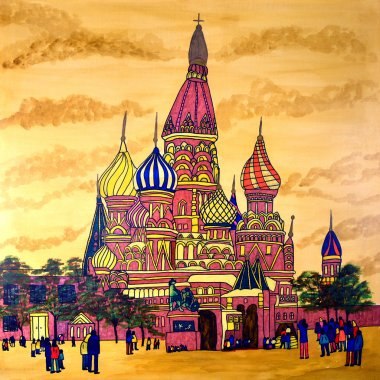 St Basil's Cathedral Painting
