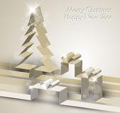 veselé vánoční přání z papíru pruhy
