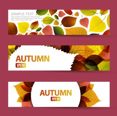 Fresh natural fall vector horizontal banners