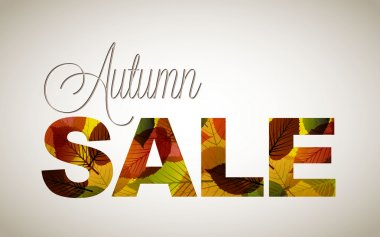 Vector fall sale poster or illustration