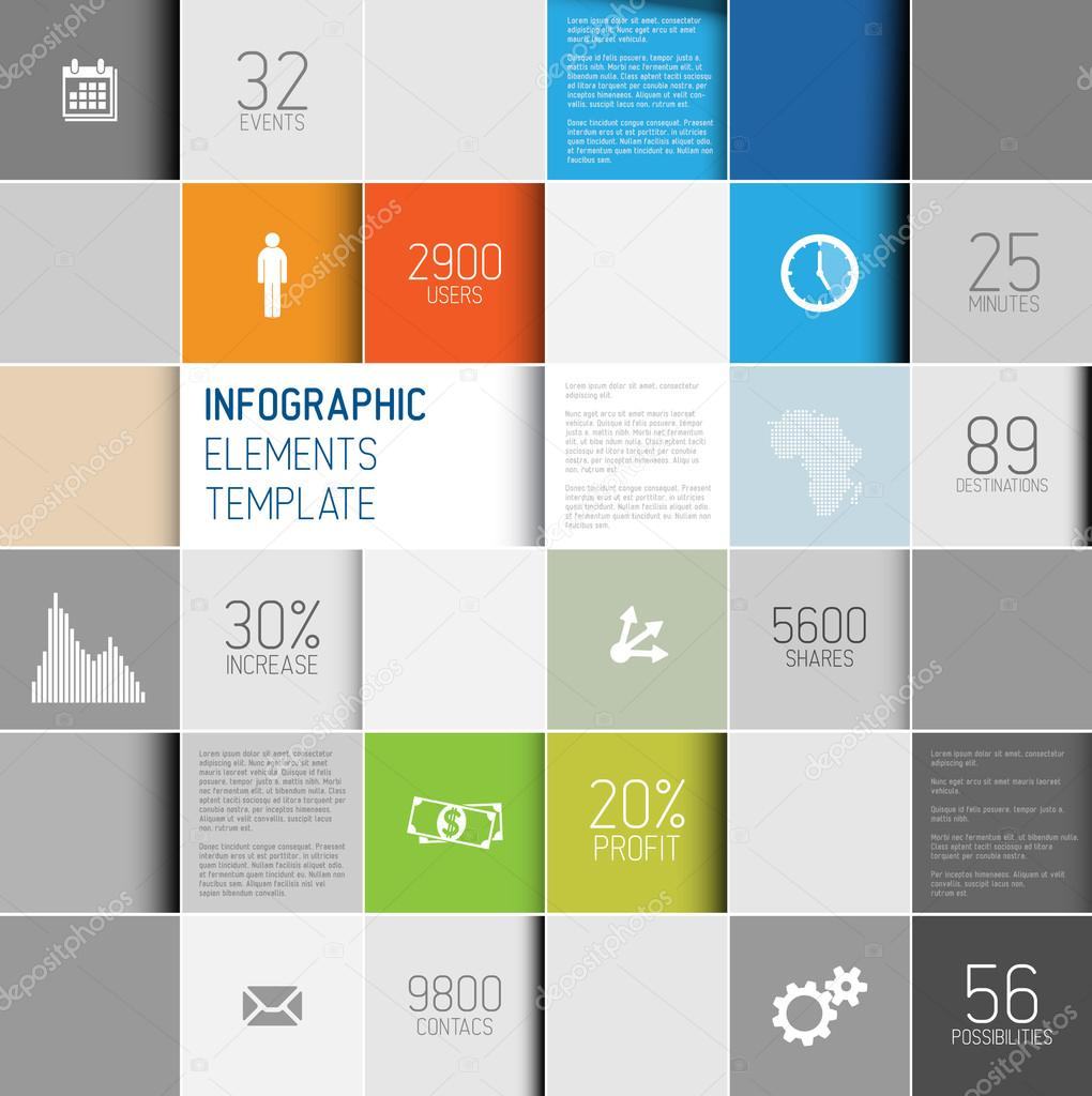 Vector abstract squares background illustration, infographic template