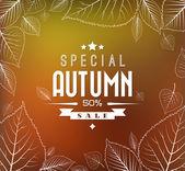 podzimní prodej vektorové pozadí