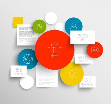 Vector abstract circles and squares infographic template