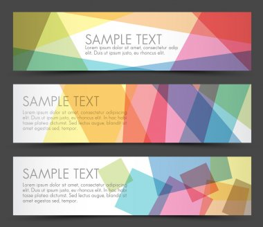 Simple colorful horizontal banners