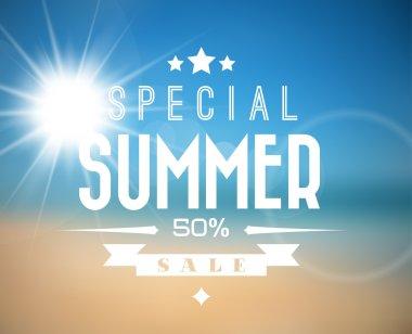 Vector summer sale poster