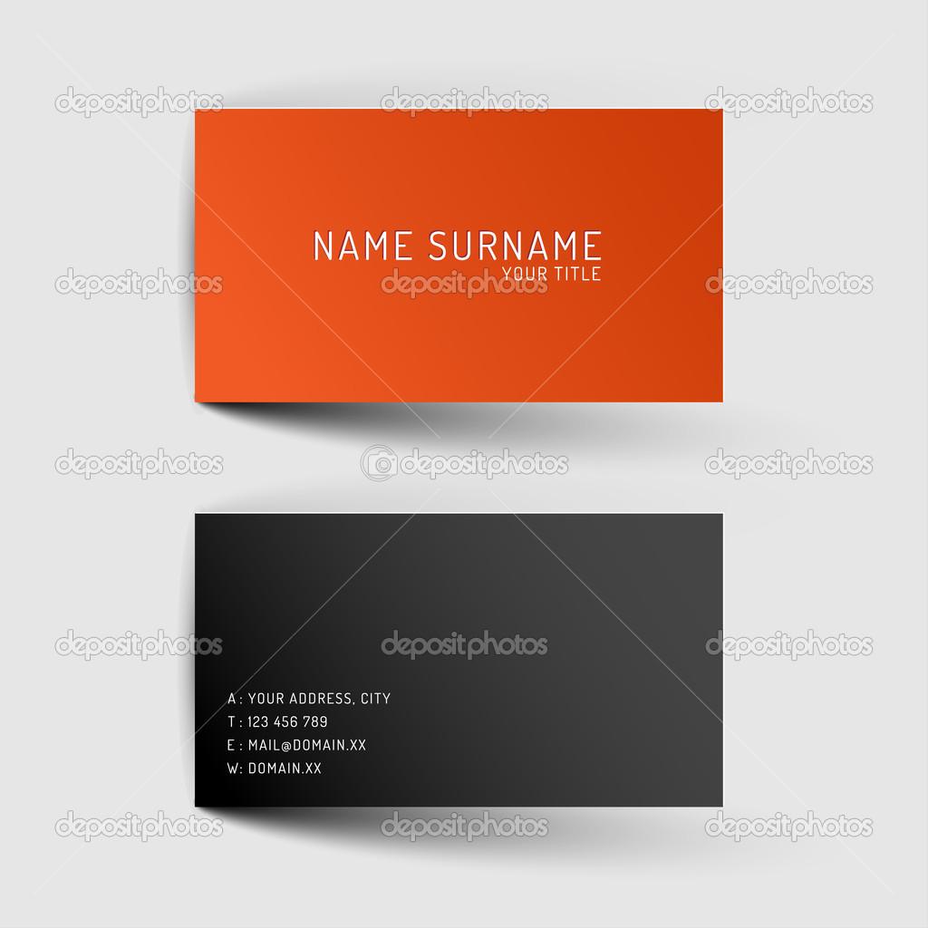 plantilla de tarjeta de presentación minimalista archivo imágenes
