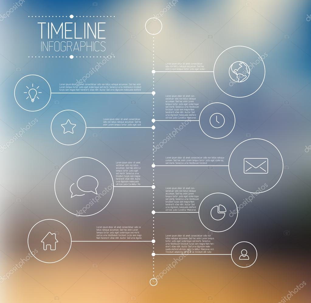 plantilla de informe infografía timeline — Vector de stock © orson ...