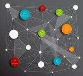 Absztrakt körök infographic hálózat mintadeszka