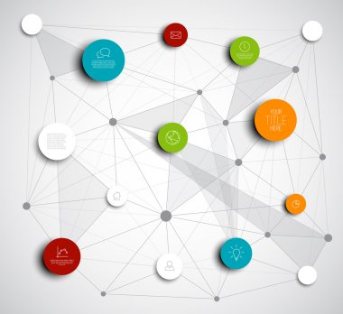 Circles infographic network template