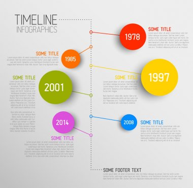 Vector Infographic timeline report template with icons stock vector
