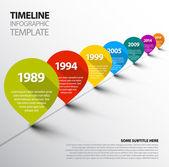 Infographic šablona časová osa s odkazy