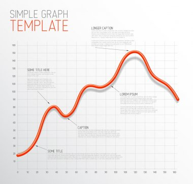 Infographic Line graph template