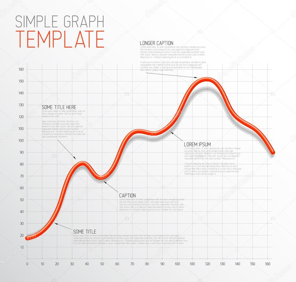 plantilla de gráfico la línea infografía — Vector de stock © orson ...