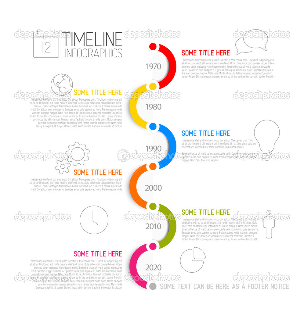 infographic timeline report template stock vector orson 49132885