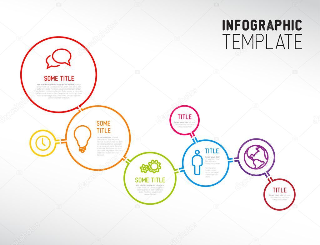 plantilla de informe infografía moderna hecha de líneas y círculos ...