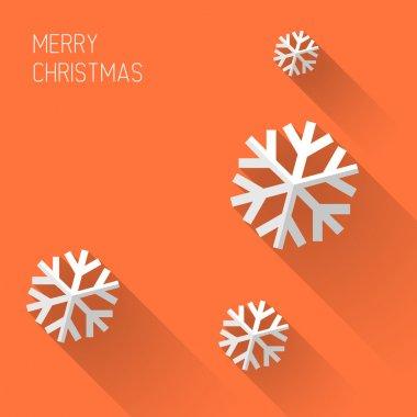 Modern orange christmas card