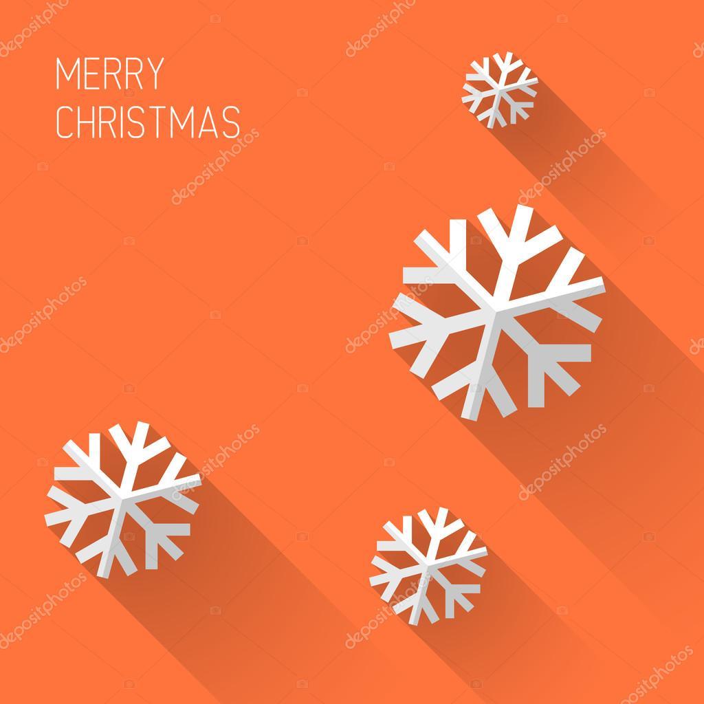Modern orange christmas card — Stock Vector © orson #50588697