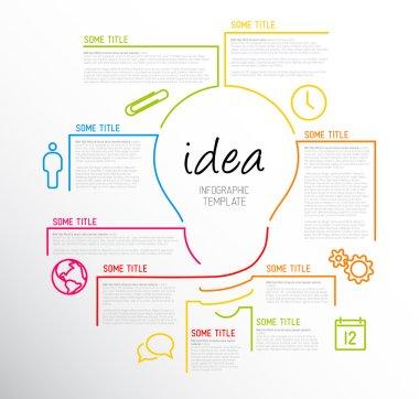 Modern idea Infographic template