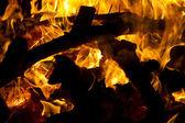 Fotografie dřevěný oheň