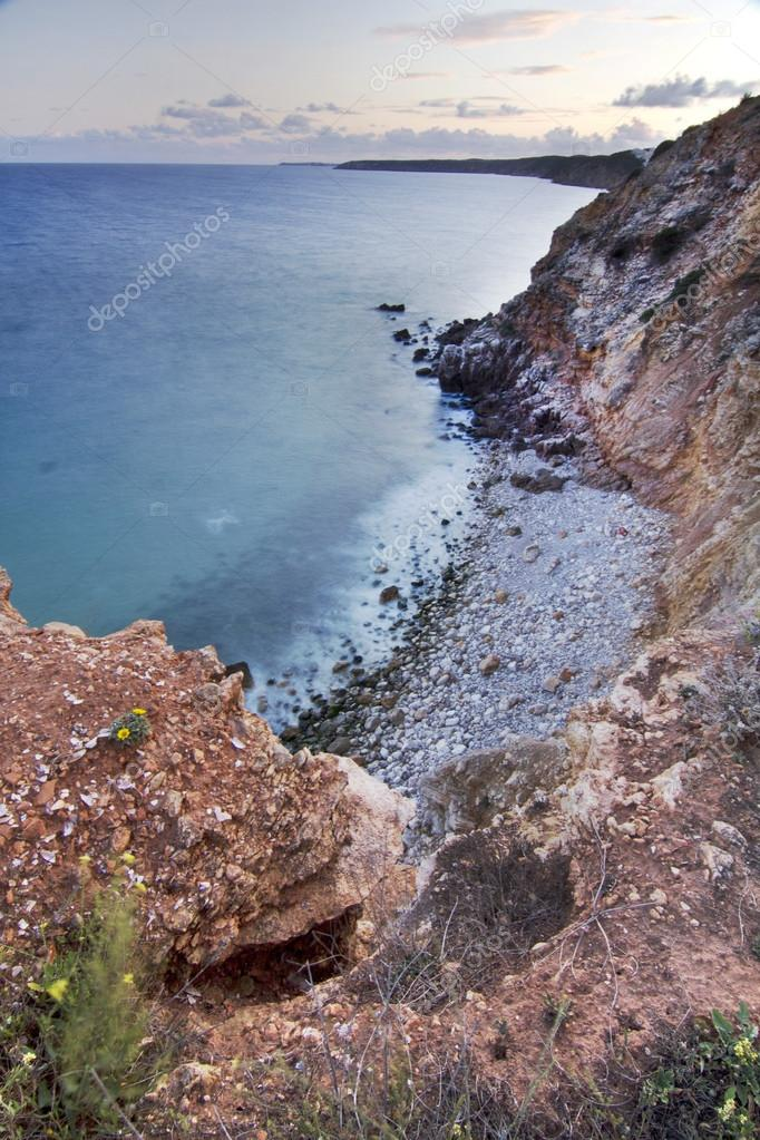 Natural coastline of Algarve