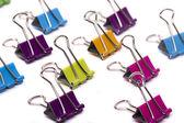 barevné sady office binder klipy