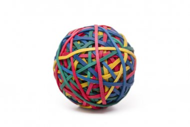 colorful elastic rubber bands