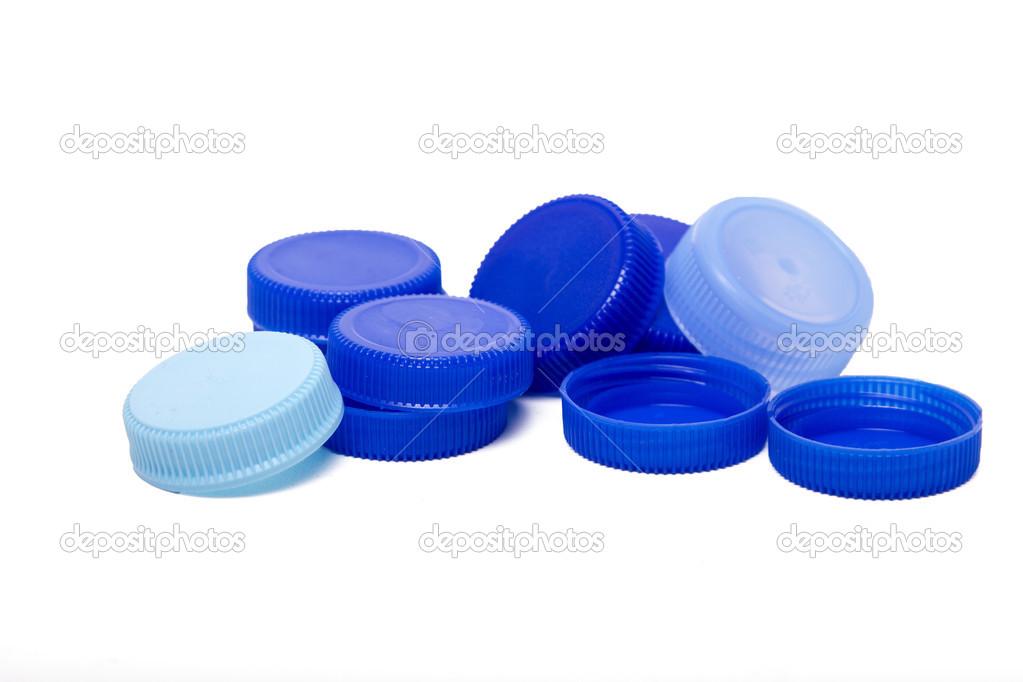 Tapas de pl stico azules foto de stock membio 50858199 for Tapas de plastico