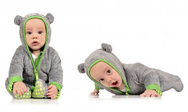 Six month old identical twin brothers