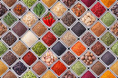 Fotografie Seamless texture with spices and herbs