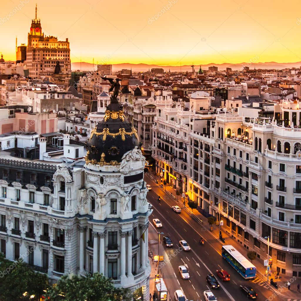 Panoramic view of Gran Via