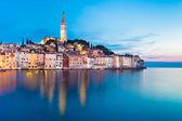 Pobřežní město Rovinj, Istrie, Chorvatsko.