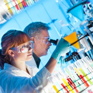 Health care professionals in lab.