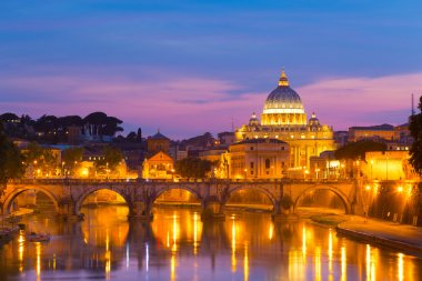 View at St. Peters cathedral in Rome, Italy