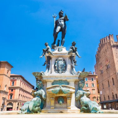 Fountain of Neptune, Bologna, Italy.