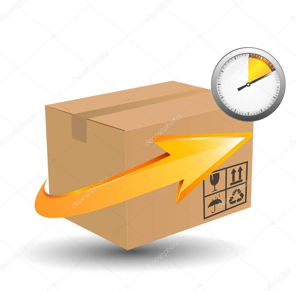 Vector delivery cardboard box