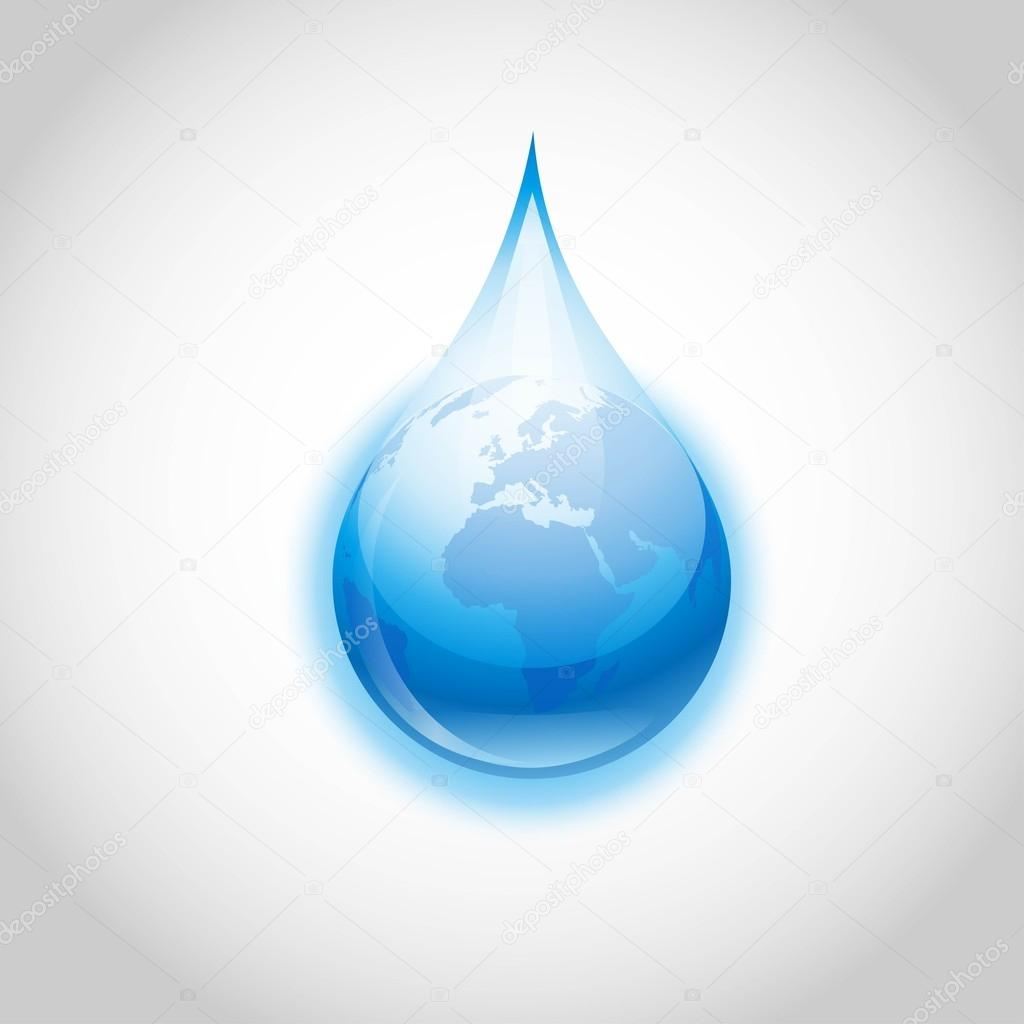Vector earth water drop