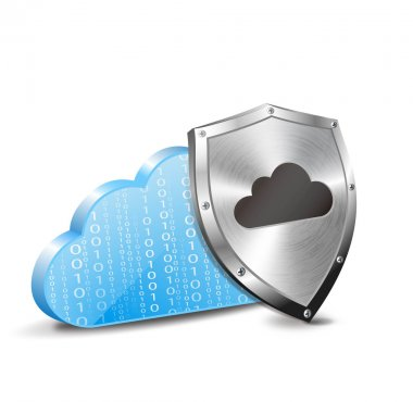vector cloud computing and metal shield