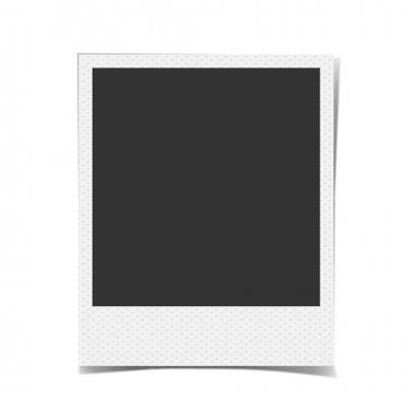 Retro blank photo frame background