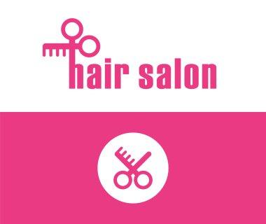 Hair style salon symbol