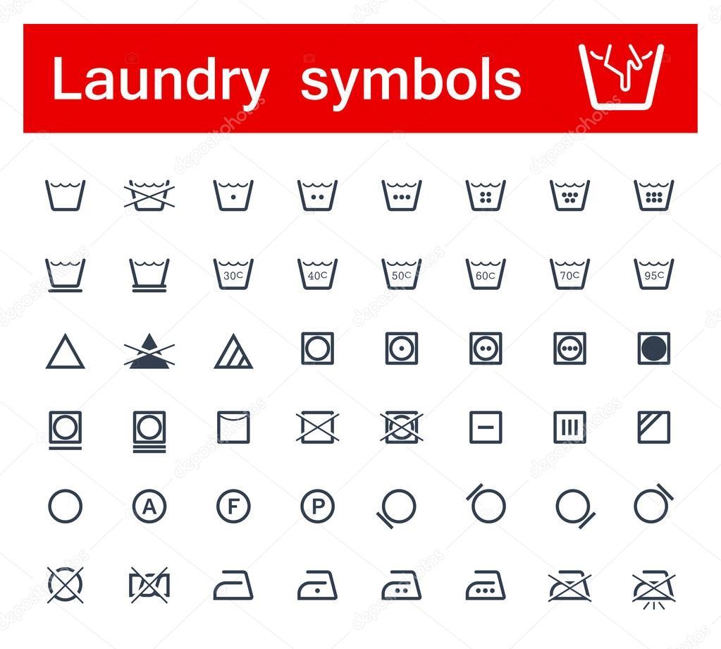 Laundry symbols stock photo popcic 36063595 laundry symbols stock photo buycottarizona Gallery