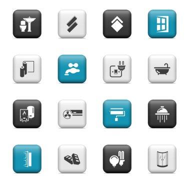 Home renovation icons
