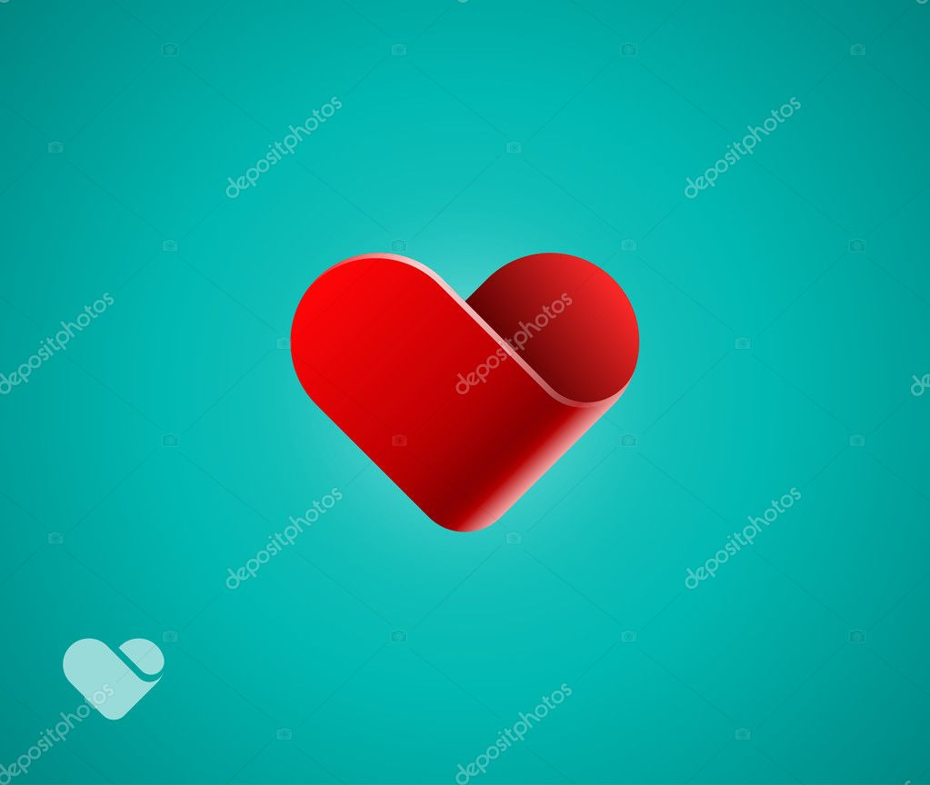 Heart symbol on green background clipart vector