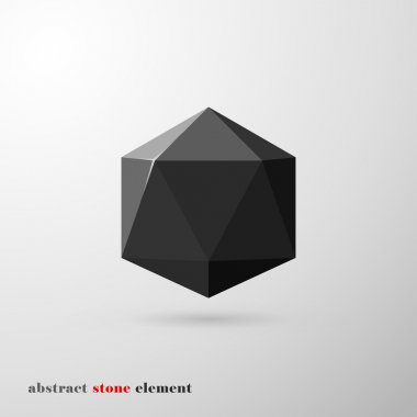 Abstract stone element