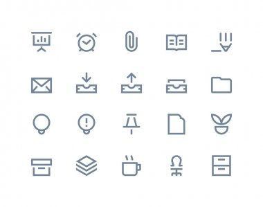 Office icons. Line series