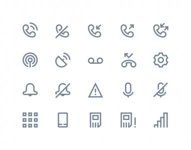 Phone logs icons. Line series